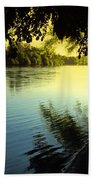 Enjoying The Scenic Beauty Of The Sacramento River Beach Towel