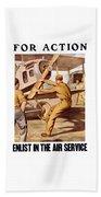 Enlist In The Air Service Beach Towel