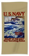 Enlist In The Navy - Help Your Country Beach Towel