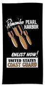 Enlist Now - United States Coast Guard Beach Towel