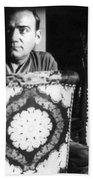 Enrico Caruso, Last Known Photo, 1921 Beach Towel