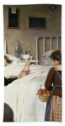 Enrique Paternina Garcia Cid - Mother Visit To The Hospital 1892 Beach Sheet