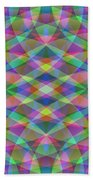 Entangled Curves Two Beach Towel