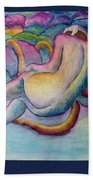 Entangled Figure With Rocks Beach Towel