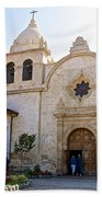 Entering The Church Sanctuary At Carmel Mission-california  Beach Towel