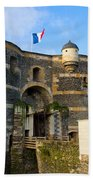 Entrance Gate Of Angers Castle Beach Towel