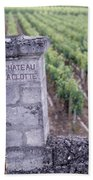 Entrance Of A Vineyard, Chateau La Beach Towel