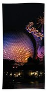Epcot At Night II Beach Towel