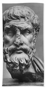 Epicurus (342?-270 B.c.) Beach Towel