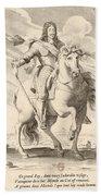 Equestrian Portrait Of Louis Xiii Of France Beach Towel