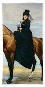 Equestrian Portrait Of Mademoiselle Croizette Beach Towel