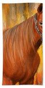 Equine Prestige - Horse Paintings Beach Towel