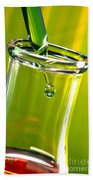 Erlenmeyer Flask In Science Research Lab Beach Towel