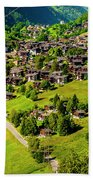 The Alpine Village Of Ernen In Switzerland  Beach Towel