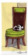Ernie And Green Chair Beach Sheet