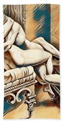 Erotic Abstract Four Beach Towel