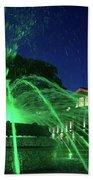 Eruption Of Green Waters, Sofia Beach Towel
