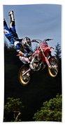 Escaping Motorbike Beach Towel