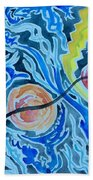 Esoteric Mind Energy Converging  Beach Towel