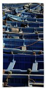 Essaouira Blue Boats Beach Sheet