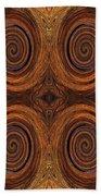 Essence Of Rust - Tiled Beach Towel