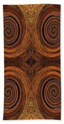 Essence Of Rust - Tiled Beach Towel