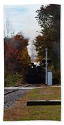 Essex Steam Train Coming Into Fall Colors Beach Towel