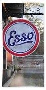 Esso Sign  Beach Towel