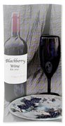 Est 2017 Blackberry Wine Beach Towel
