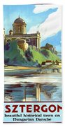 Esztergom, Beautiful City On Danube River, Hungary,  Beach Towel