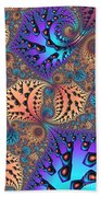 Etched Leaves Beach Towel