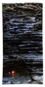 Eternal Flame Falls Beach Towel