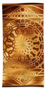 Eternity Mandala Golden Zebrawood Beach Towel