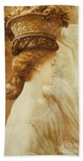 Eucharis  A Girl With A Basket Of Fruit Beach Towel