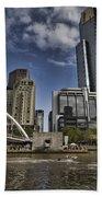 Eureka Tower-view From Cityside Beach Towel