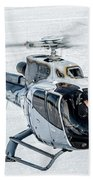 Eurocopter Ec130 With Fantastic Livery Beach Towel