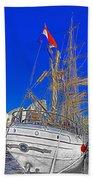 Europa Docks In Sydney Beach Towel