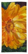 Even The Flowers In Autumn Are Golden Beach Towel