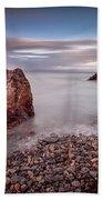 Evening At Knab Rock In Mumbles Beach Towel