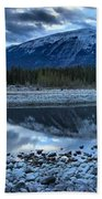 Evening At The Athabasca River Beach Towel