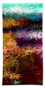 Evening At The Pond Beach Towel