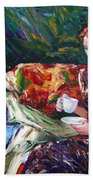 Evening Coffee Beach Towel