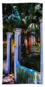 Evening Fence And Gate - Nola Beach Towel