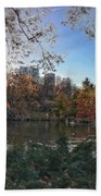 Evening In Central Park Beach Towel