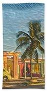 Evening In Cuba Beach Towel