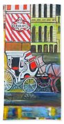 Evening In New York Beach Towel