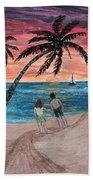 Evening In Paradise Beach Towel