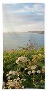 Evening Light In Cornwall Beach Towel