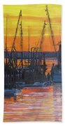 Evening On Shem Creek Beach Towel