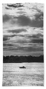 Evening On South River - Bw Beach Towel